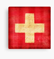 Switzerland flag Canvas Print