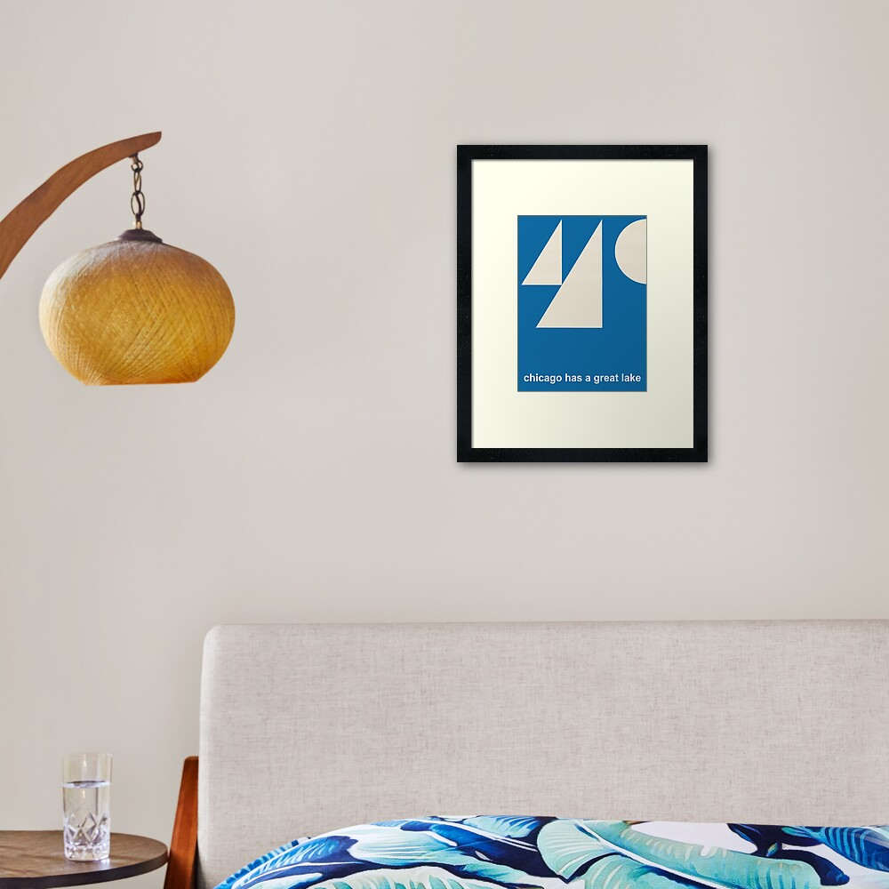 Vintage Poster - Chicago has great lakes Framed Art Print