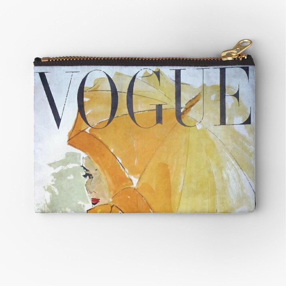 Vogue Vintage Woman Canvas Zipper Pouch