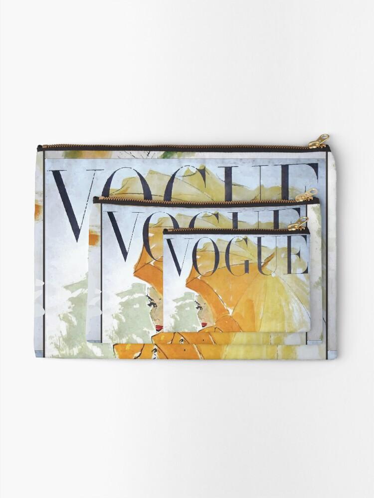 Alternate view of Vogue Vintage Woman Canvas Zipper Pouch