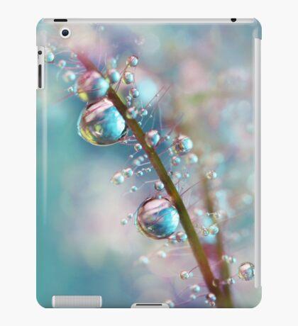 Rainbow Blue Smokey Drops iPad Case/Skin
