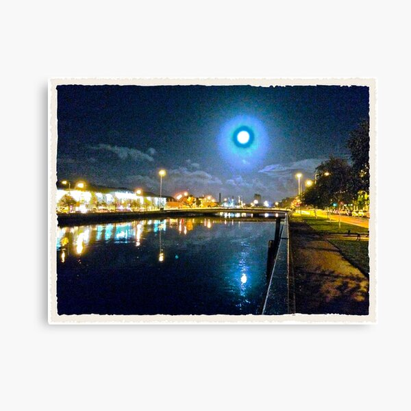Moonlit night on Merchant´s Quay 003 Canvas Print