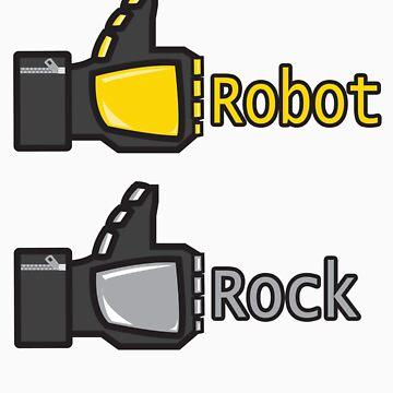 Social Robot Rock! by pixelwolfie