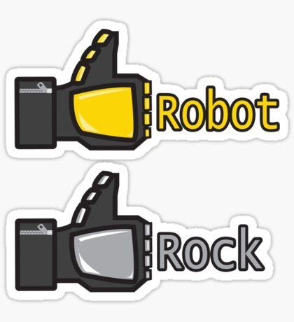 Social Robot Rock! Sticker