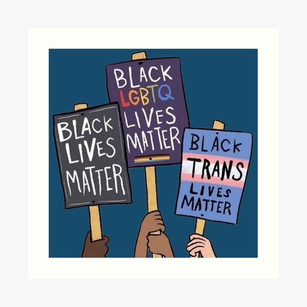 BLM black lives matter Art Print