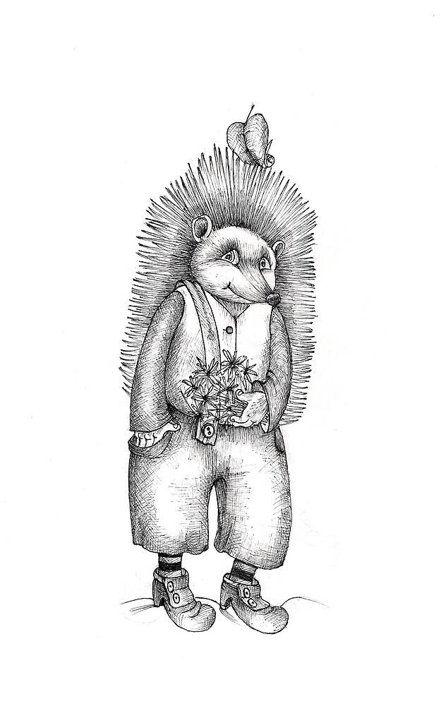 hedgehog by Olga Žuravļova