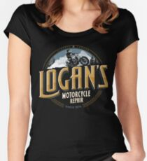 Logan's Motorcycle Repair Women's Fitted Scoop T-Shirt