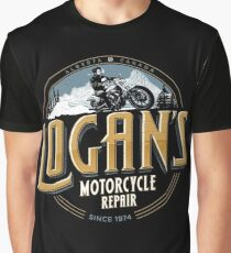 Logan's Motorcycle Repair Graphic T-Shirt