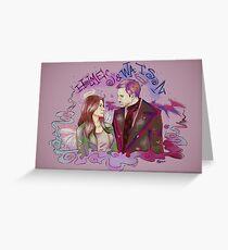 holmes and watson Greeting Card