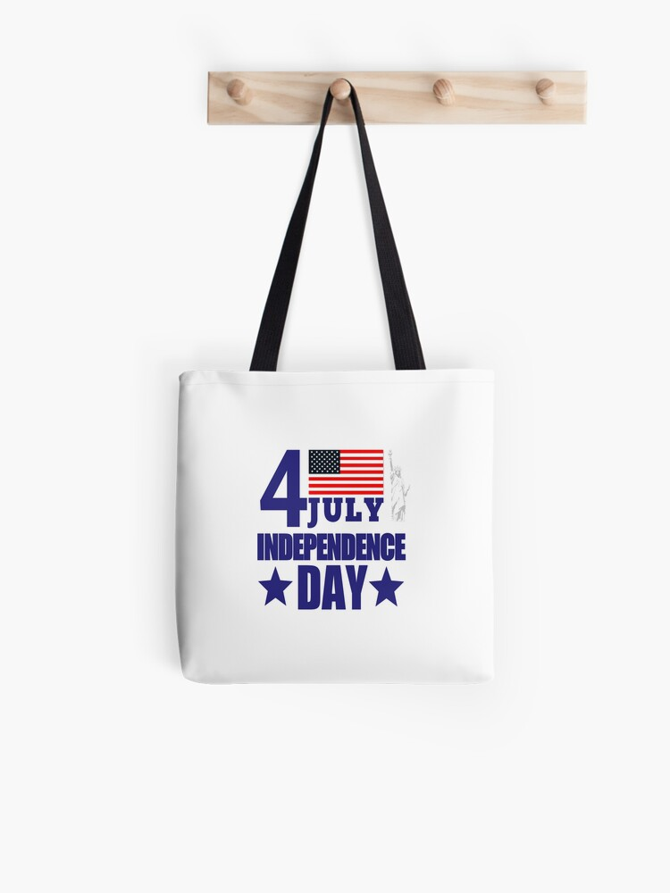 Handmade Independence day bag. Small Fourth of July tote bag Clearance