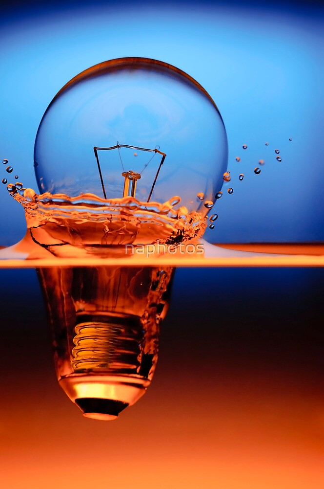 light bulb shot through the water by naphotos