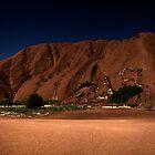 Uluru Bathed in Moonlight by Steve Bass