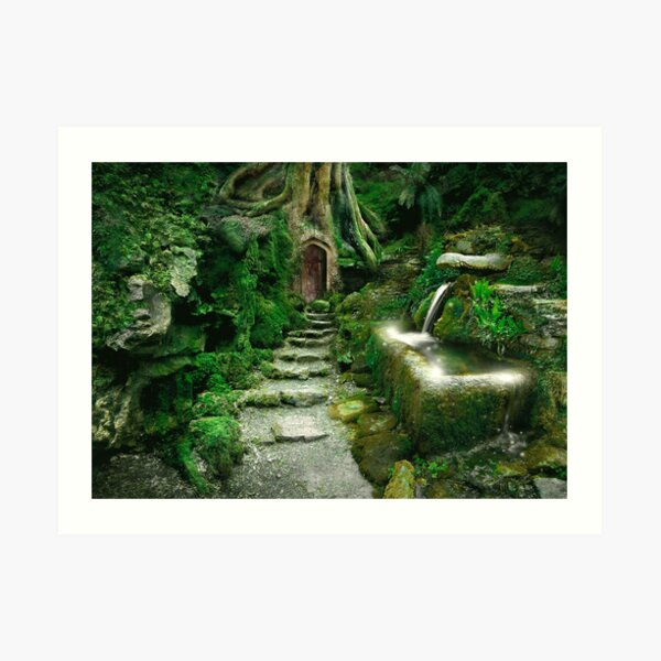 The way into the woodland realm  Art Print