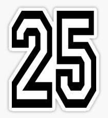 25, TEAM SPORTS, NUMBER 25, TWENTY, FIVE, Twenty fifth, Competition,  Sticker