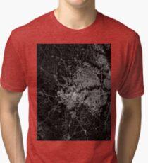 Fort Worth map Texas Tri-blend T-Shirt