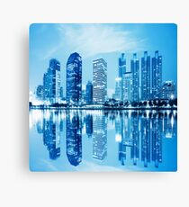 city in twilight Canvas Print