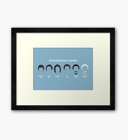 The changing hair of Tom Jones Framed Print