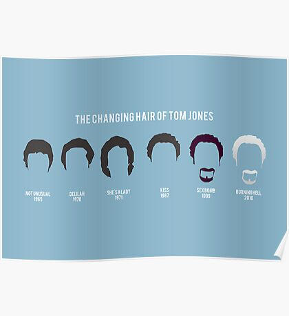 The changing hair of Tom Jones Poster
