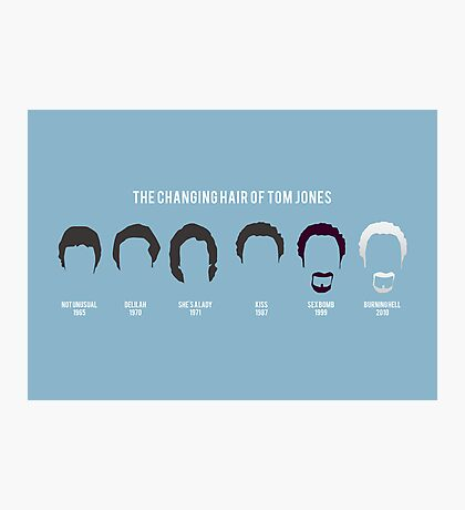 The changing hair of Tom Jones Photographic Print