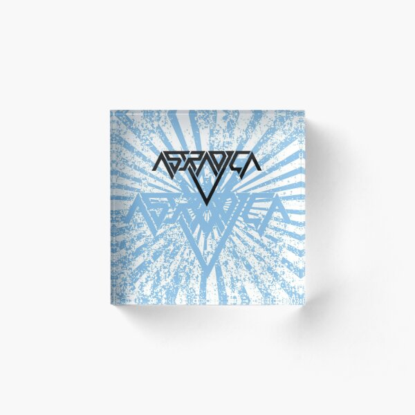 Astradica bandlogo with blue artwork Acrylic Block