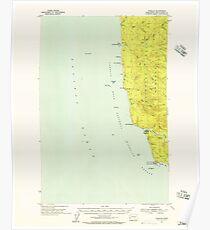 USGS Topo Map Washington State WA Taholah 244194 1955 62500 Poster