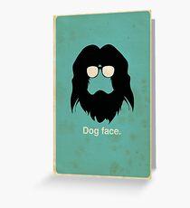 Dog Face Greeting Card