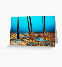 water and oil Greeting Card
