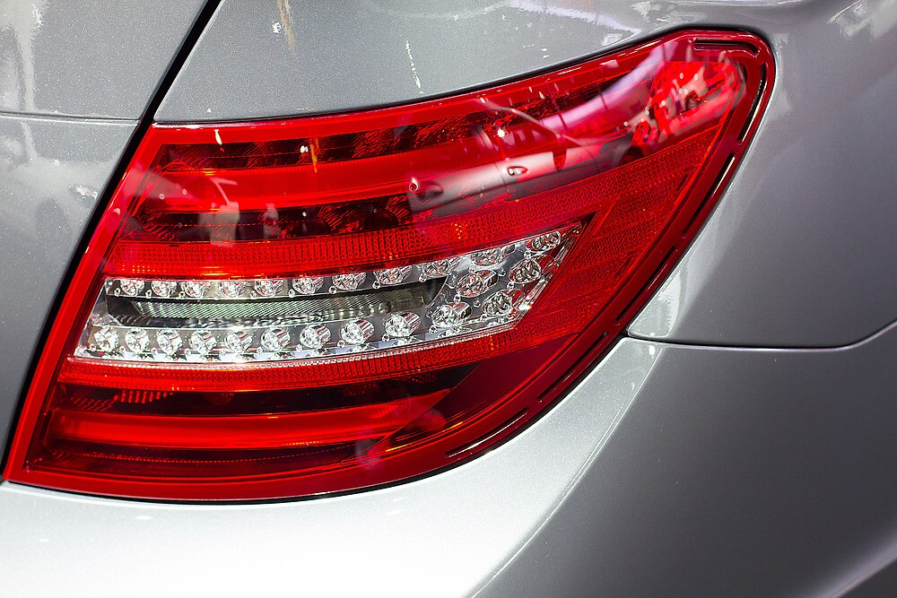 Tail light Mercedes-Benz [ Print & iPad / iPod / iPhone Case ] by Mauricio Santana