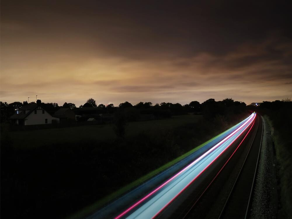 Long Exposure Shot of Train by JackJamesWhite