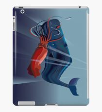 Giant Squid and Sperm Whale iPad Case/Skin