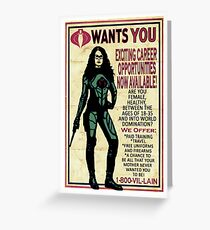 Cobra Recruiting poster Featuring the Baroness (G.I. Joe) Greeting Card