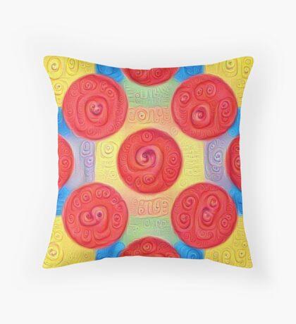 #DeepDream Color Squares and Circles Visual Areas 5x5K v1448272824 Throw Pillow