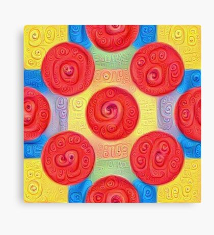 #DeepDream Color Squares and Circles Visual Areas 5x5K v1448272824 Canvas Print