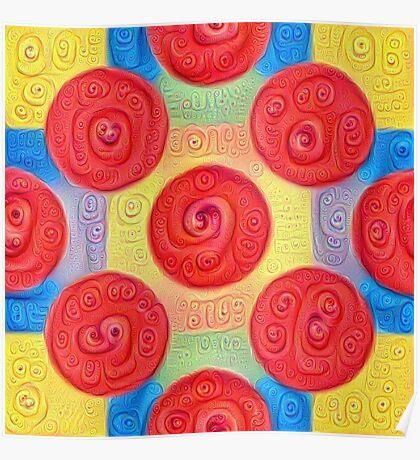#DeepDream Color Squares and Circles Visual Areas 5x5K v1448272824 Poster