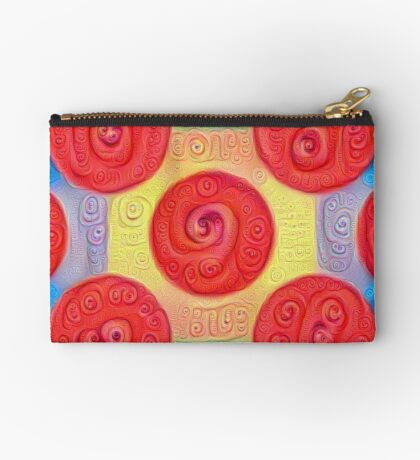 #DeepDream Color Squares and Circles Visual Areas 5x5K v1448272824 Zipper Pouch