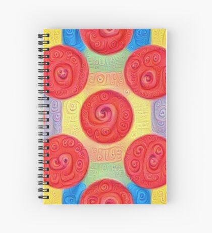 #DeepDream Color Squares and Circles Visual Areas 5x5K v1448272824 Spiral Notebook