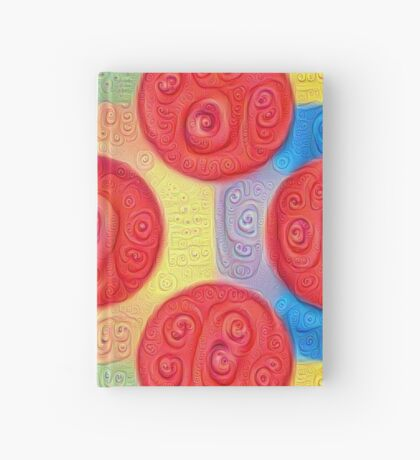 #DeepDream Color Squares and Circles Visual Areas 5x5K v1448272824 Hardcover Journal