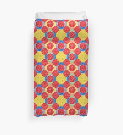 #DeepDream Color Squares and Circles Visual Areas 5x5K v1448272824 Duvet Cover