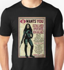 Cobra Recruiting poster Featuring the Baroness (G.I. Joe) Unisex T-Shirt