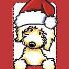 Yellow Labradoodle Christmas Greeting by offleashart