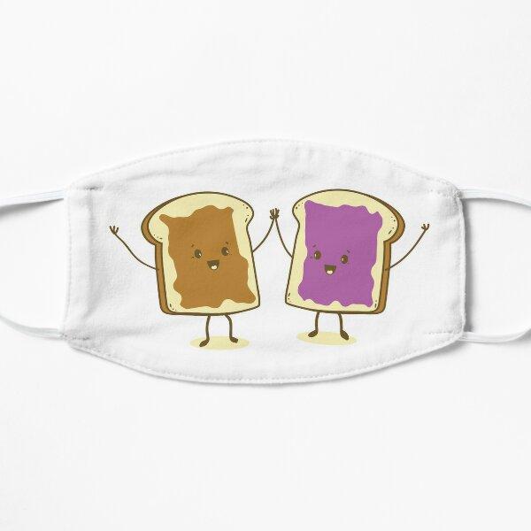 Kawaii cute Peanut Butter & Jelly are friends cartoon graphics Flat Mask