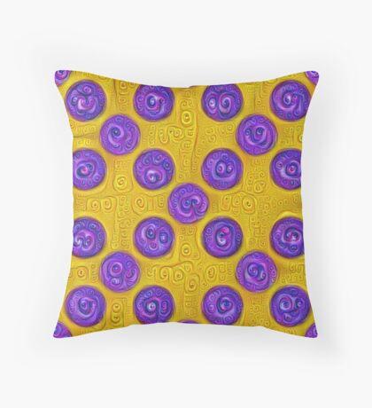 #DeepDream Color Squares and Circles Visual Areas 5x5K v1448281164 Throw Pillow