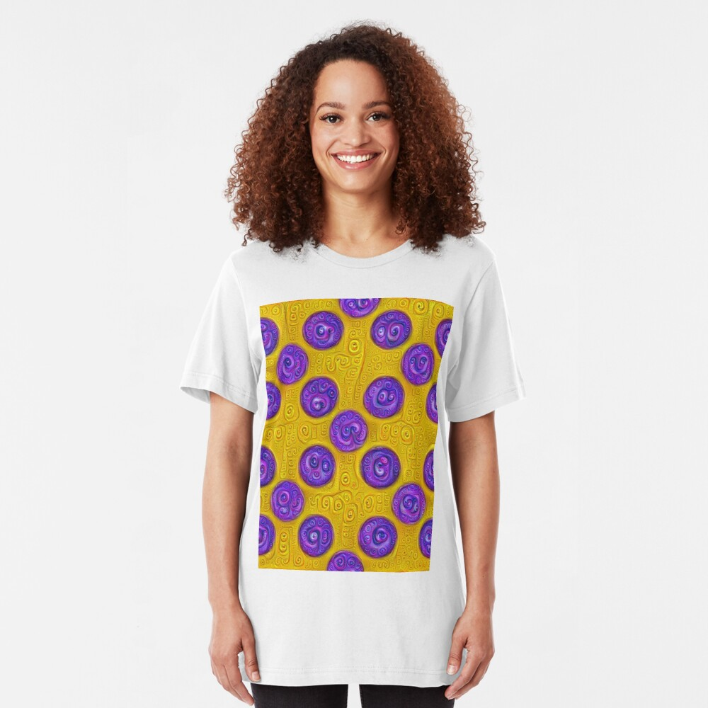 #DeepDream Color Squares and Circles Visual Areas 5x5K v1448281164 Slim Fit T-Shirt