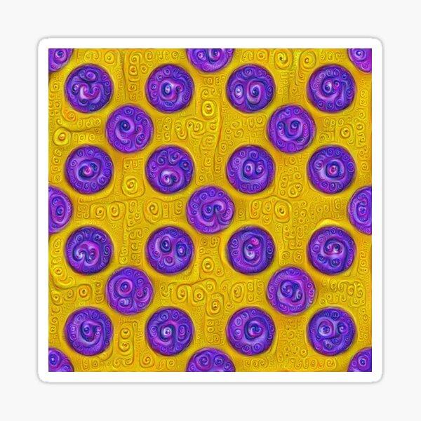 #DeepDream Color Squares and Circles Visual Areas 5x5K v1448281164 Sticker