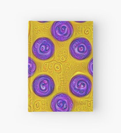 #DeepDream Color Squares and Circles Visual Areas 5x5K v1448281164 Hardcover Journal