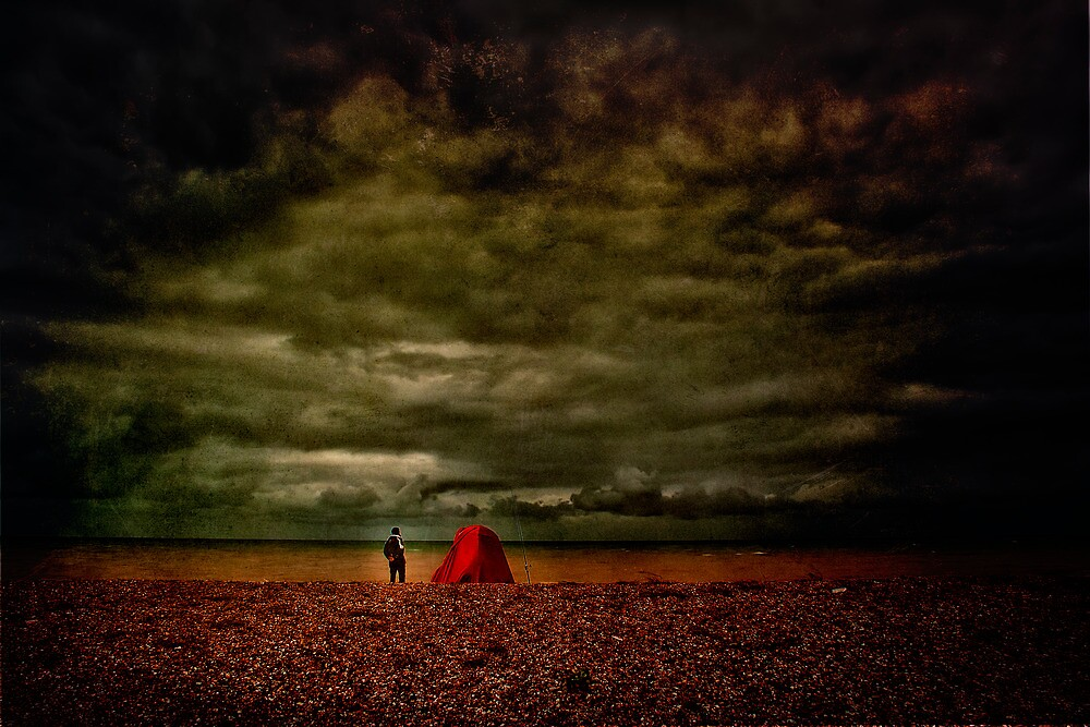 Lonely Fisherman by Dave Godden