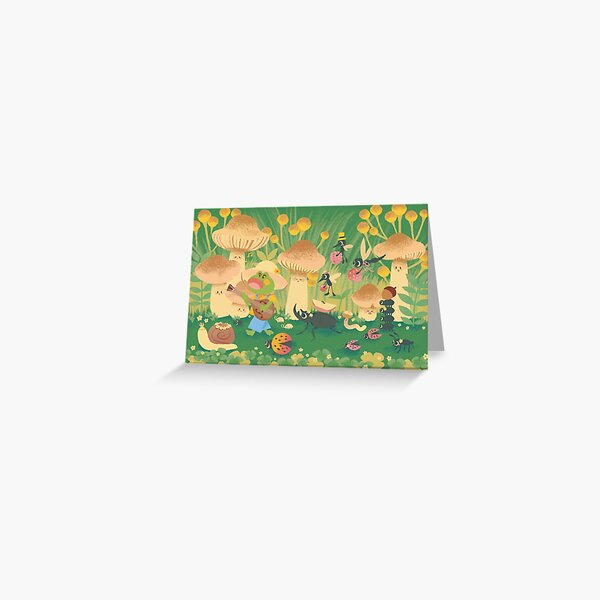 Frog & Friends Parade Greeting Card