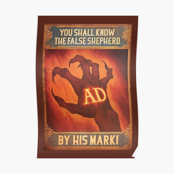BioShock Infinite – You Shall Know the False Shepherd by His Mark! Poster