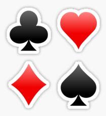 Poker / Blackjack Card Suits Sticker