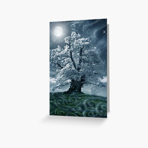 The White Leaved Oak Greeting Card